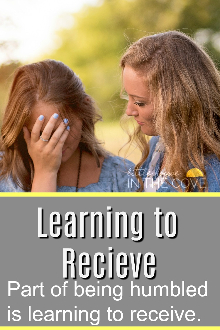 Learning to receive help is one part of the journey to becoming humble many of us would prefer to leave out.