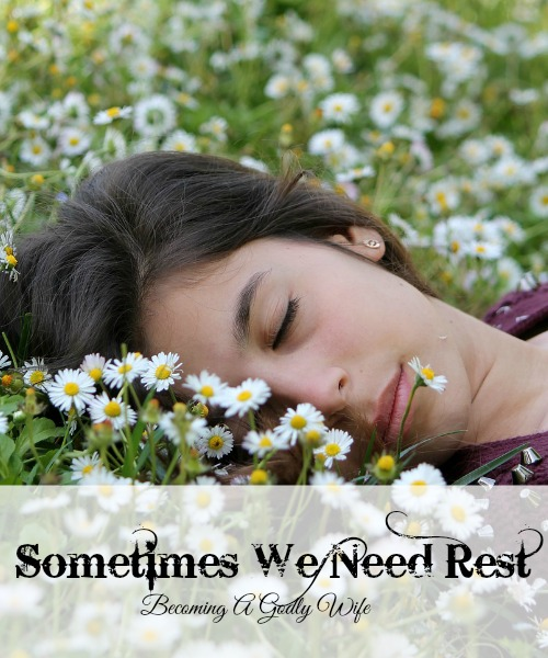 Sometimes We Need Rest
