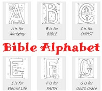 ***Free***Bible Based Alphabet Coloring Pages