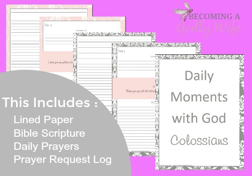 Join me as I journey through the book of Colossians with this free 31 day printable guide.