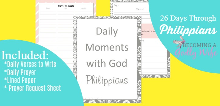 Join me as I study through the book of Philippians with this free printable.