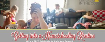 Creating a homeschooling routine is hard! Here are some tips to help you create a routine that both you and your children can stick to and maybe even enjoy.