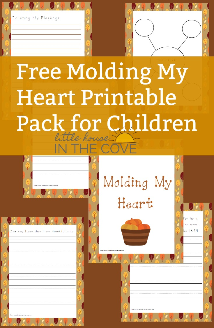 Help your childre develop a thankful heart with this free printable pack!