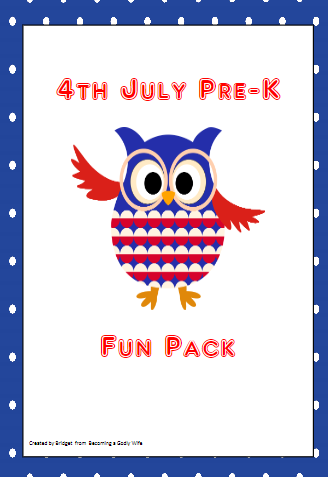 4th of July PreK Pack