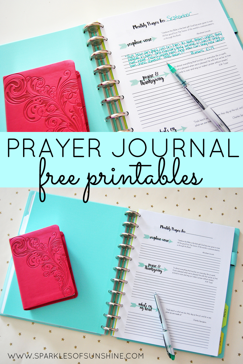 PRAYER JOURNAL FREE PRINTABLES