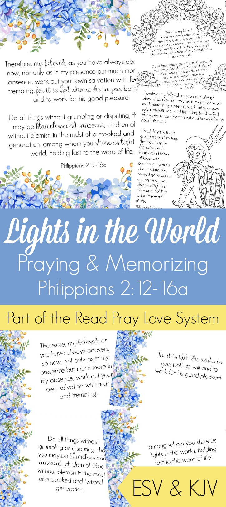 Lights in the World Praying and Memorizing Philipians 2:12-16a