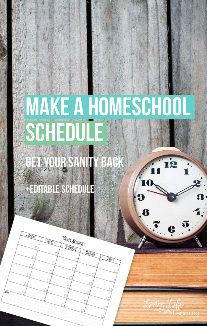 Free Editable Homeschooling Schedule