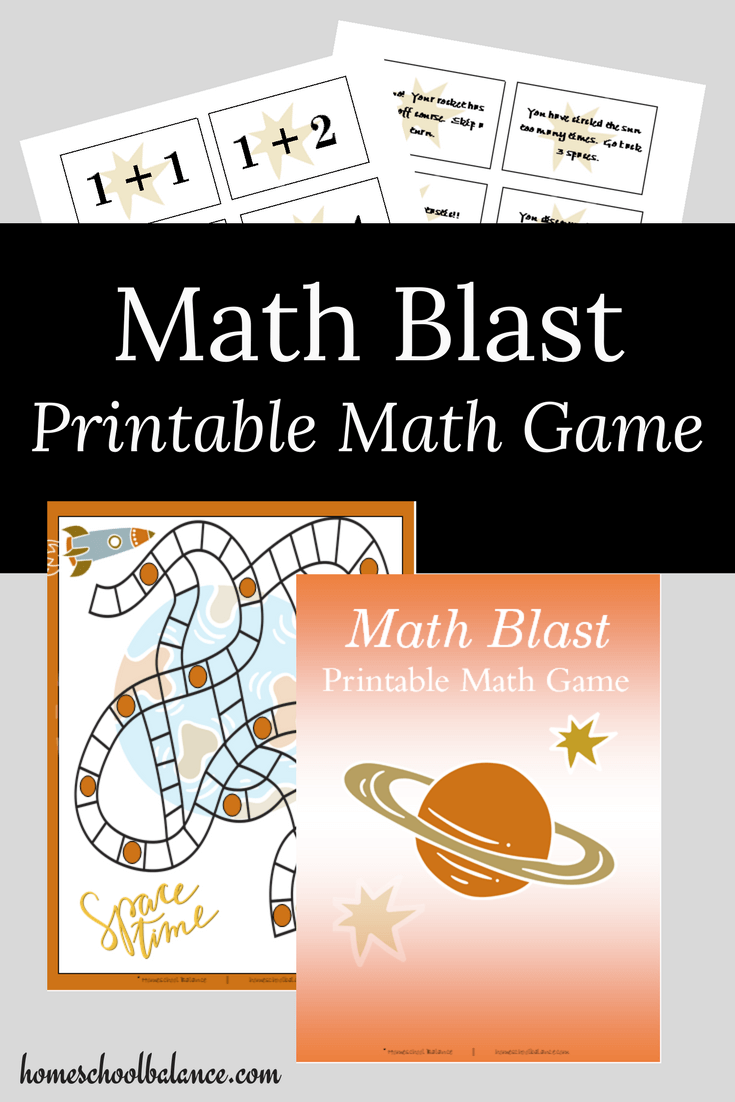Math Blast Printable Math Game