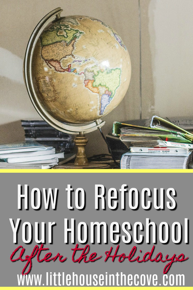 When the holiday season is over it is so hard to get back into the swing of things. Here are some tips to help you refocus your homeschool!