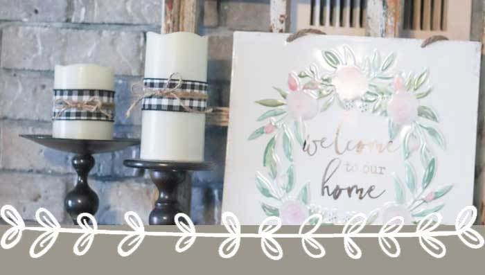 Simple DIY Farmhouse Decor Candle Hack